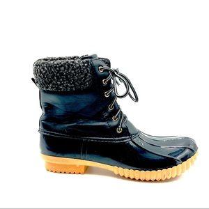 Nature Breeze Women's Rubber Rain Boots, Size 6